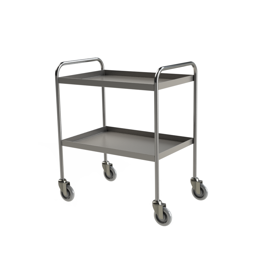 4H125 Tray Clearing Trolley 2 Tier hero 2
