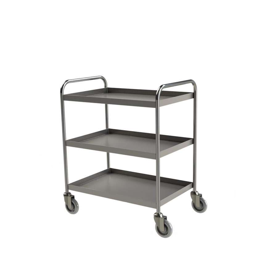 4H126 Tray Clearing Trolley 3 Tier Hero 1 small
